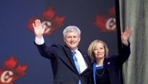 Stephen Harper, Laureen Harper, Conservative Party Convention, Vancouver, Elizabeth McSheffrey