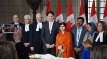 Malala Yousafzai, Elizabeth McSheffrey, Justin Trudeau