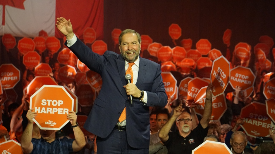 Tom Mulcair, NDP leader, Elizabeth McSheffrey, federal election