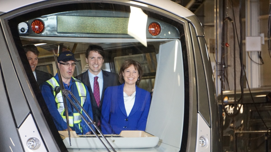 Justin Trudeau, Christy Clark, SkyTrain, TransLink, Elizabeth McSheffrey